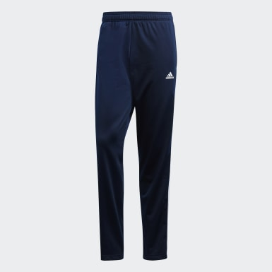Men Training Blue Essentials 3-Stripes Pants