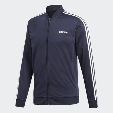 Männer Athletics 3-Streifen Trainingsanzug Blau
