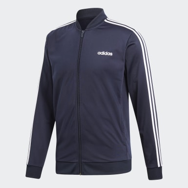 Men Training Blue 3-Stripes Track Suit