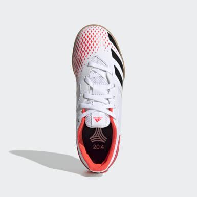 Chuteira Predator 20.4 Futsal Branco Meninos Futebol