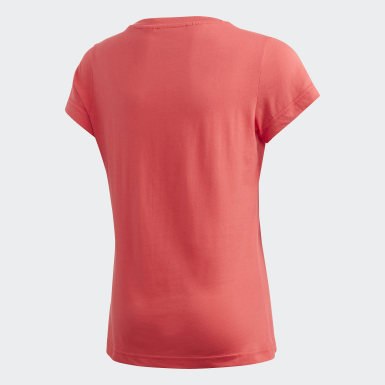 Polera Essentials Linear Rosado Niña Training