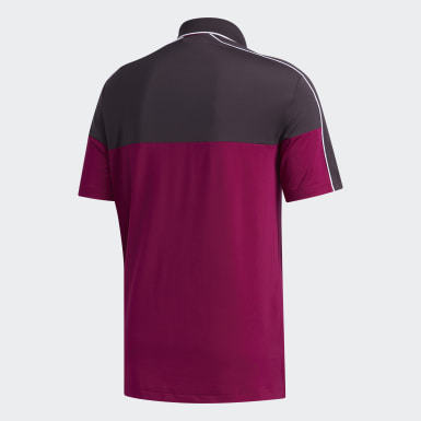 Men Golf Purple Ultimate365 Striped Polo Shirt