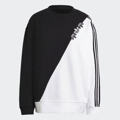 Sweatshirt Sliced Trefoil Adicolor Preto Mulher Originals
