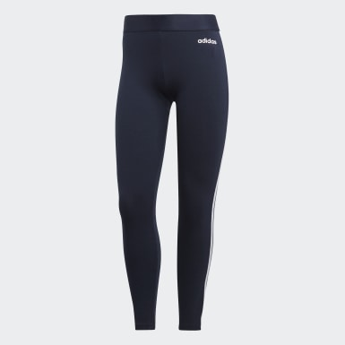 Mallas Essentials 3 bandas Azul Mujer Athletics