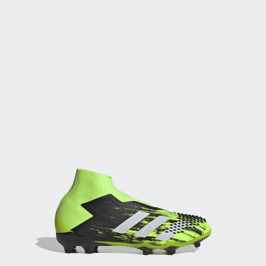Kids Football Green Predator Mutator 20+ Firm Ground Boots