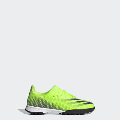 Children Soccer Green X Ghosted.3 Turf Shoes