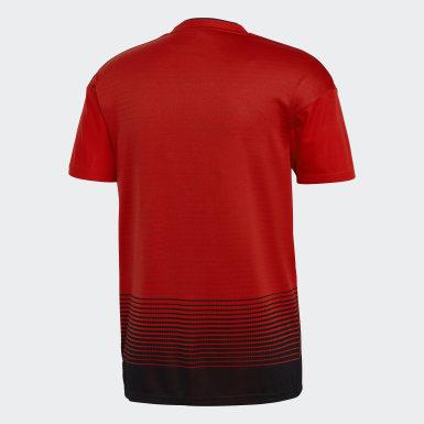 Camiseta de Local Manchester United Réplica Rojo Hombre Fútbol