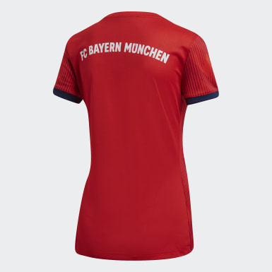 Jersey FC Bayern LocalMujer 2018 Rojo Mujer Fútbol