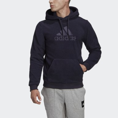 Sweat-shirt à capuche Sherpa Winter Noir Hommes Athletics