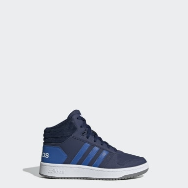Children Essentials Blue Hoops 2.0 Mid Shoes