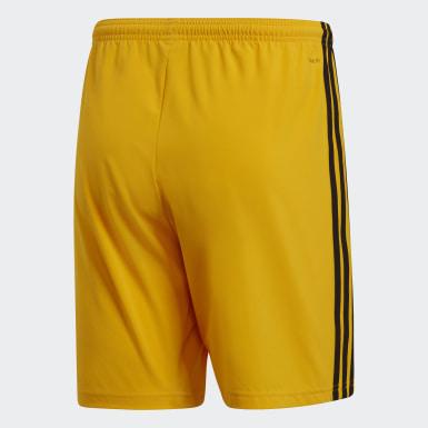 Heren Voetbal Geel Condivo 18 Short