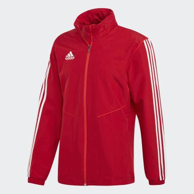 Muži Fotbal červená Bunda Tiro 19 All-Weather