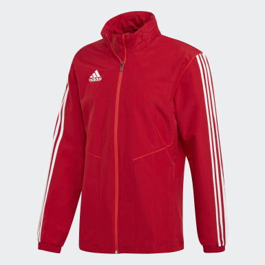 Men Football Red Tiro 19 All-Weather Jacket