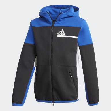 Boys Training Black Z.N.E. Full-Zip Hoodie