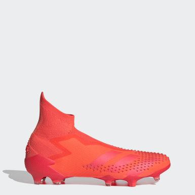 Botas Futebol Predator Mutator 20+ – Piso firme Vermelho Futebol