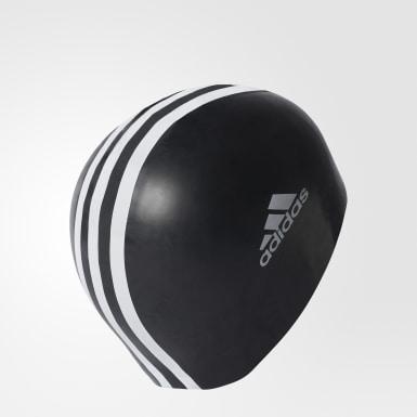 Yüzme Siyah 3-Stripes Yüzücü Bonesi