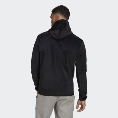 Mænd Athletics Sort adidas Z.N.E. Full-Zip Velour hættetrøje