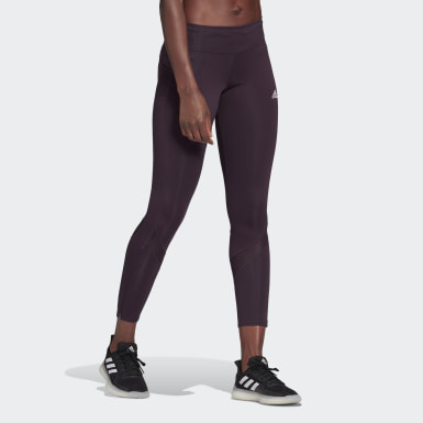 Women Running Purple Own the Run Leggings