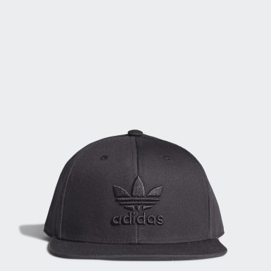 Originals Black Snapback Trefoil Cap