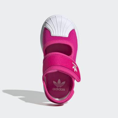 เด็ก Originals สีชมพู รองเท้าแตะ Superstar 360