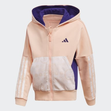 Κορίτσια Training Ροζ French Terry Knit Hoodie
