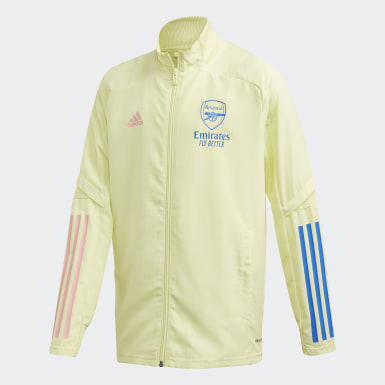 Youth 8-16 Years Football Yellow Arsenal Presentation Track Top