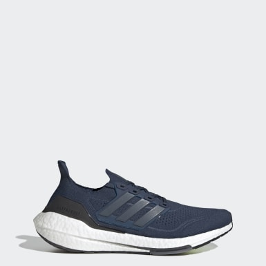 Men Running Blue Ultraboost 21 Shoes