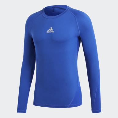 Men Football Blue Alphaskin Sport Tee