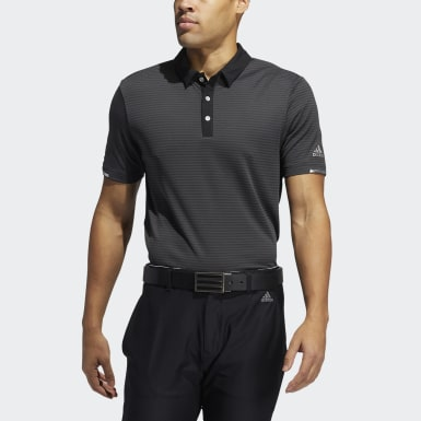 HEAT.RDY Micro-Stripe Polo Shirt Szary