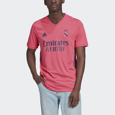Men's Soccer Pink Real Madrid 20/21 Away Authentic Jersey