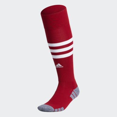 Training Red 3-Stripes Hoop Socks