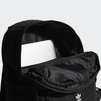 Originals Black Quilted Trefoil Backpack