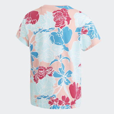 เด็ก Originals สีชมพู เสื้อยืด