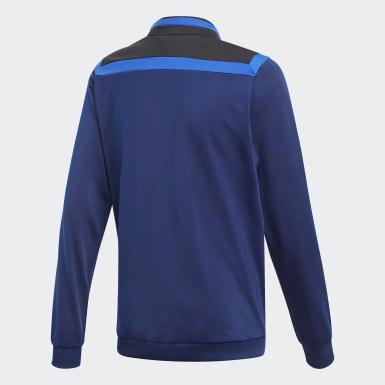 Børn Træning Blå Tiro 19 Polyester jakke
