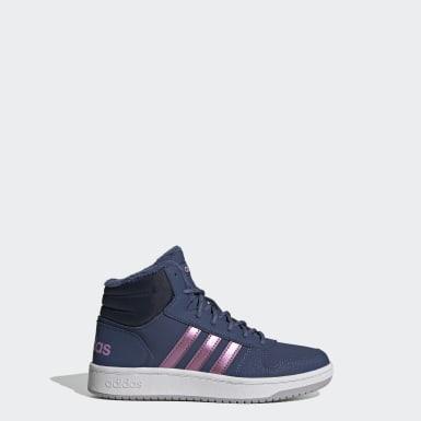 синий Высокие кроссовки Hoops 2.0