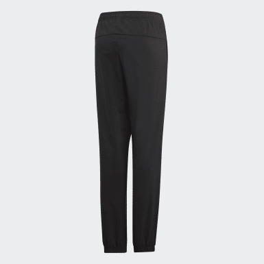 Boys Lifestyle Black Essentials Plain Stanford Pants