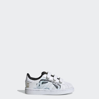 Kinder Originals Superstar Star Wars Stormtrooper Schuh Weiß