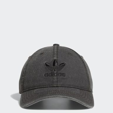 Originals Black Relaxed Strap-back Hat