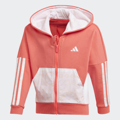 Felpa con cappuccio French Terry Knit Rosa Ragazza Training