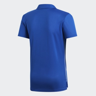Men Football Blue Core 18 Climalite Polo Shirt