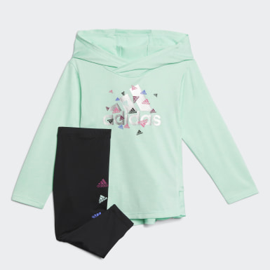 Infant & Toddler Training Turquoise Badge of Sport Hooded Top and Tights Set