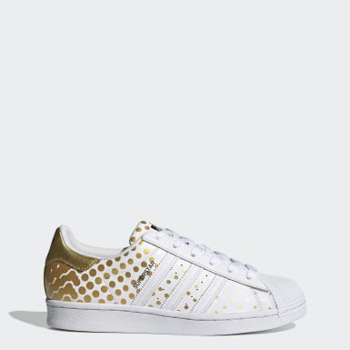 Dames Originals goud Superstar Schoenen