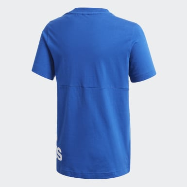 Jungen Training Must Haves Big Logo T-Shirt Blau