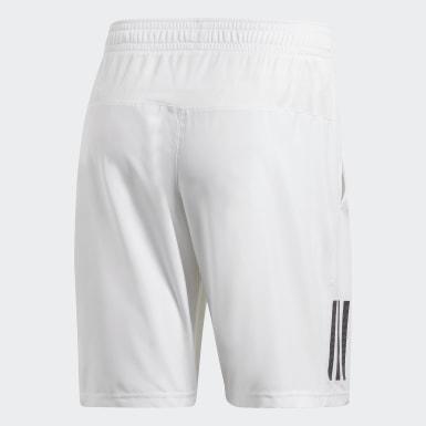 Shorts Club 3 Rayas 9 Pulgadas Blanco Hombre Tennis