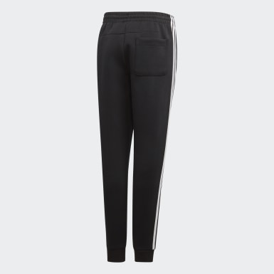 Youth 8-16 Years Training Black Must Haves 3-Stripes Joggers