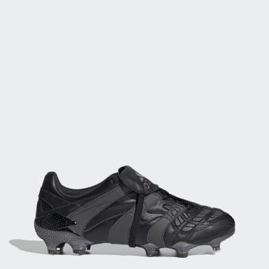 Men's Soccer Black Predator Accelerator Firm Ground Cleats