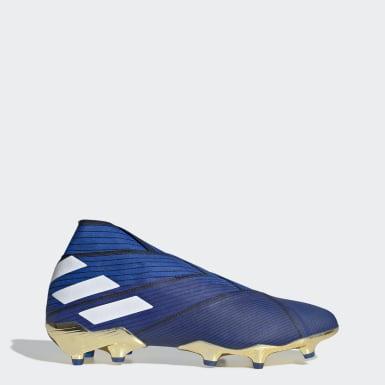 Calzado de Fútbol Nemeziz 19+ Terreno Firme Azul Hombre Fútbol