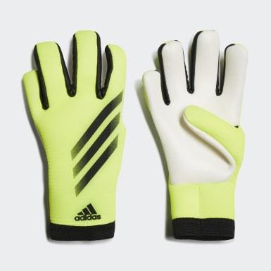 Deti Futbal žltá Brankárske rukavice X Training