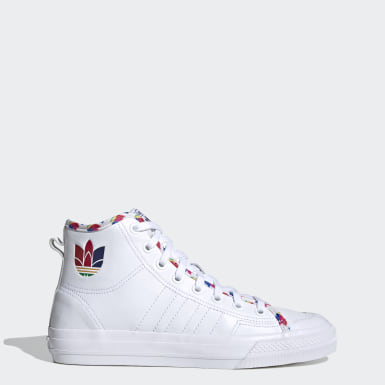 Originals White Nizza Hi Shoes