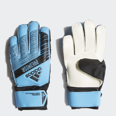 Kids Football Blue Predator Top Training Fingersave Gloves